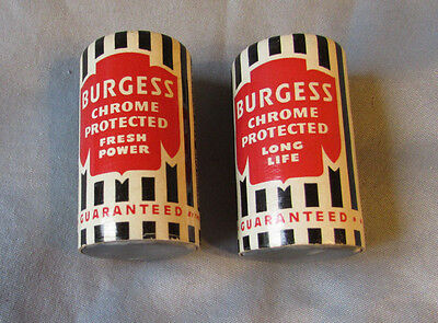 2 Vintage  Burgess Chrome  Protected No 2  Size D Battereys 1954 Display