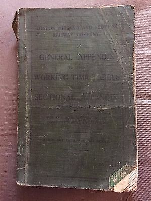 London Midland & Scottish Railway 1937 General Appendix Working Time Tables