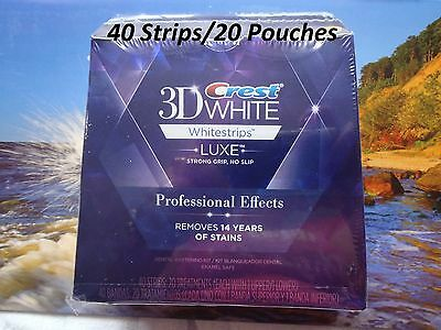 Crest3D-Professional Effects Whitestrips 40strips/20Pouches/Sealed Box