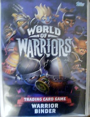World of Warriors Trading Game Binder and 170 cards