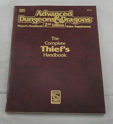 Advanced Dungeons and Dragons AD&D The Complete Thief's Handbook TSR2111