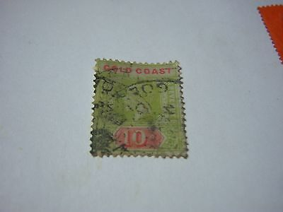 GOLD COAST.- USED-SCOTT #79-10shilling-green&red/green-George5th-cv$110