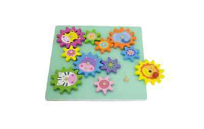 Wooden Puzzle Spinning Gears Cogs Toy Kids Gift Children Activity Educational