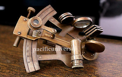 """Antique Maritme Collectible Sextant 4"""" Solid Brass Christmas Best Gift Item."""