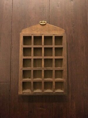 Vintage Thimble Display Shelf-holds 20