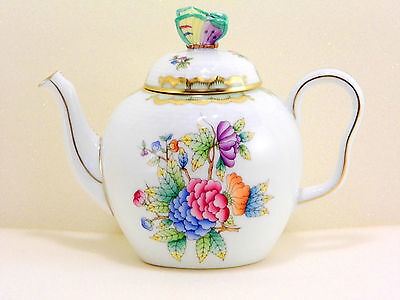 Herend Queen Victoria Teapot,extreme Rare,new Form,brand New Boxed