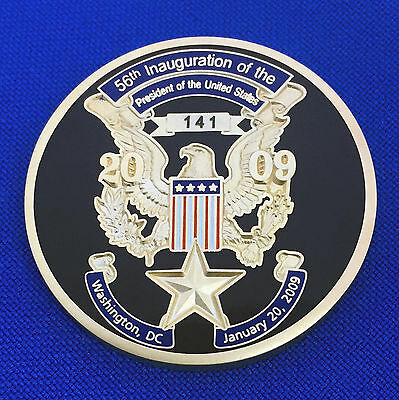 President Obama 56th Inauguration 2009 44th POTUS Gold Star Challenge Coin #027