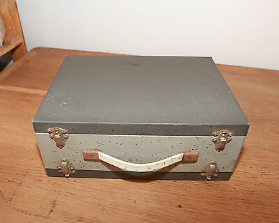 Vintage Metal Photographic Slide Storage Box Case DOUBLE SIDED UNUSUAL RARE