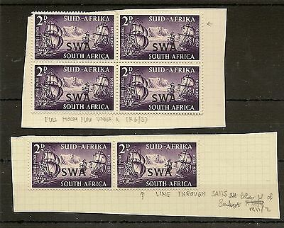 South West Africa 1952  Kgvi Landing Flaws (9) Mint