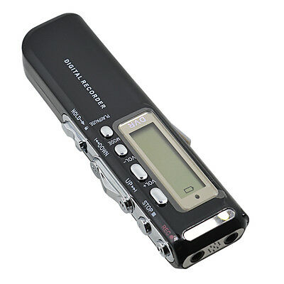 Brand New Digital Voice Recorder 8GB Voice Activated Dictaphone + MP3 Player