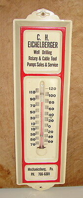 Vintage Metal Advertising Thermometer-C H Eichelberger, Mechanicsburg, Pa