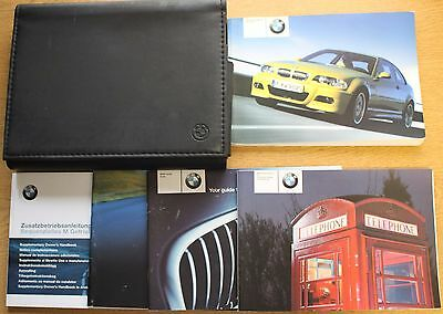 Bmw M3 E46 Handbook Owners Manual Wallet 2000-2006 Pack 12771 !