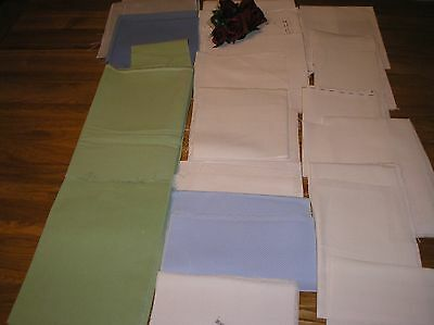 Job Lot Of 30 Pieces Of Cross Stitch And Embroidery Fabric.small/ Large Pieces.
