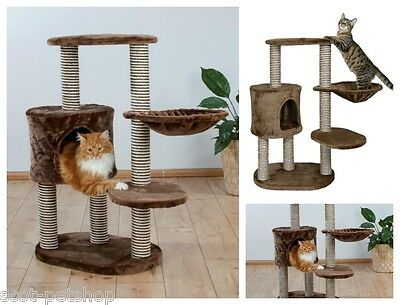 Moriles Cat Activity Sisal Post Cat Tree With Cave Brown 99 cm