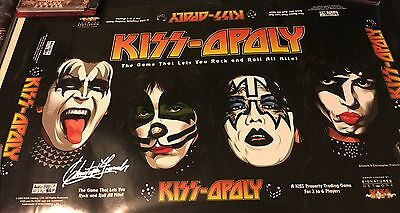 Kiss Monopoly Promo Poster  Autographed By Artist