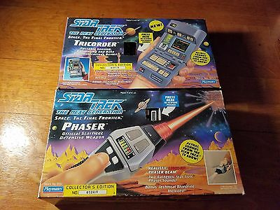 Tested 1992 Star Trek The Next Generation Tricorder And Phaser Lot