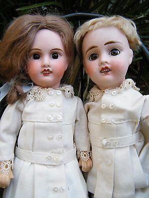 Two Beautiful ANTIQUE Jules Verlingue Doll FRENCH JOINTED Dolls