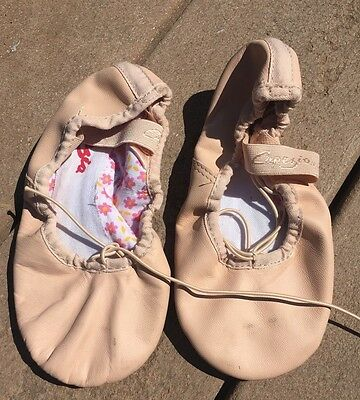Leather Ballet Pink Kids Dance Shoes Size 12w