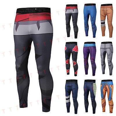 New Men's 3D Graphic Pattern Slim Fit Pants Elastic Gym Sports Trousers 9 Styles