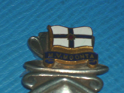 MV MOONTA CADDY SPOON  EPNS&ENAMEL. c1950 EXC CONDITION. ADELAIDE STEAMSHIPS CO