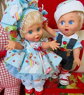 """1990 Galoob Baby Face """"Surprised Susie"""" Strawberry Shortcake Dolls - ADORABLE!"""