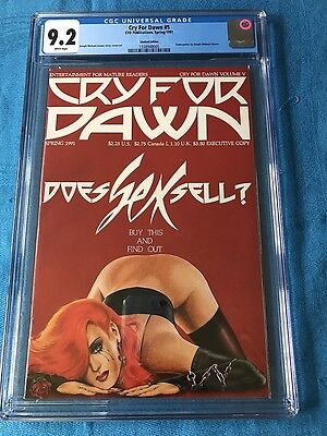 Cry for Dawn #5 - Limited Executive Edition - CFD - CGC 9.2 - Joseph Linsner