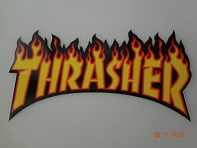 Vintage Thrasher Flame decal Right from factory