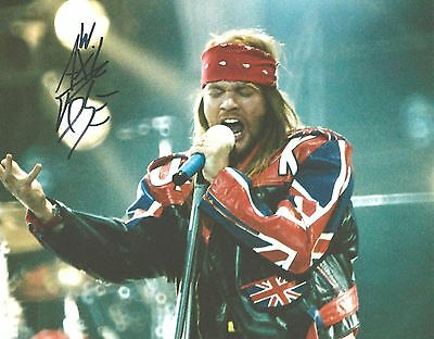 Genuine Personally Hand Signed 10x8 Photo of Axl Rose (COA Incl)