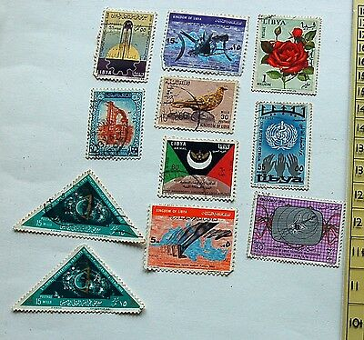 Mixed Set 11Stamps From around the 1960's Libya  (Lot 81)