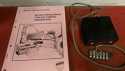 New Holland 719 819 service manual + metal detector tester box Ford