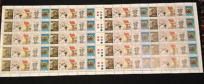 Rare Not Folded Full Sheet 1985 Australiana Classic Children's Books 33c Stamps