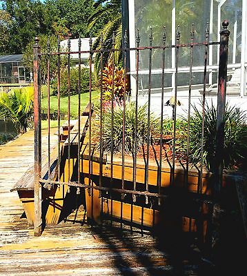 "Antique Victorian Wrought Iron 48"" High Fence - 120 Feet Available"