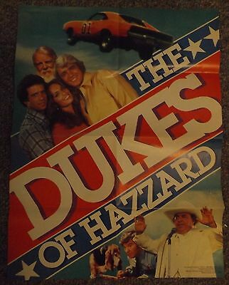 """1982 Weekly Reader DUKES OF HAZARD Poster 16"""" X 21"""""""