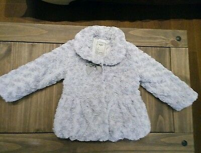 BNWT Mayoral girls Faux Fur coat , jacket , size 5 years NEW