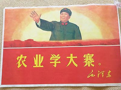 Vintage Chinese Propaganda Poster Stricking Imagery   #510 FREE SHIPPING