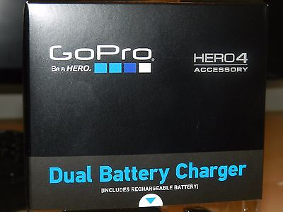 GoPro Hero 4 Dual battery charger +rechargable battery BNIB