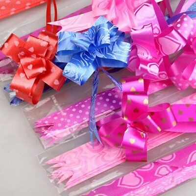 100pcs Pull Flower Ribbon Bow Gift Wrap Festive Gift  Packing Decorative Holiday