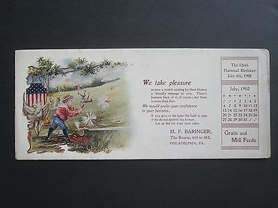 Boys and Firecrackers 4th of July 1902 Ink Blotter