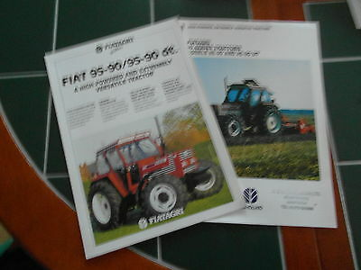 Ford New Holland Fiatagri 95-90 95-90 dt series 90 tractor 2 x brochures