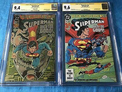 Superman #82 Collector's and Reg set - DC - CGC SS 9.6 9.4 - Signed by Jurgens