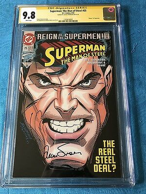 Superman: Man of Steel #25 - DC - CGC SS 9.8 NM/MT - Signed by Louise Simonson