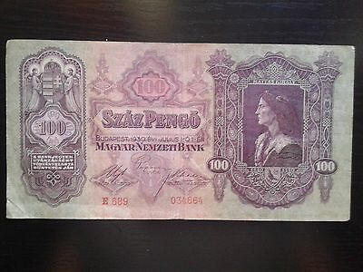 Hungary 100 Pengo 1930, Circulated