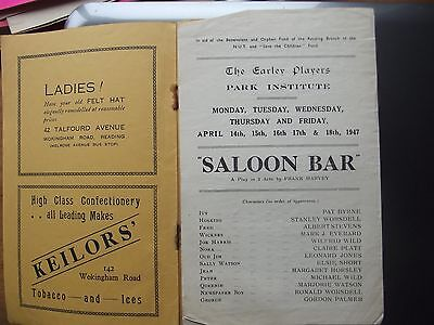 Theatre ProgrammeThe Early Players Reading