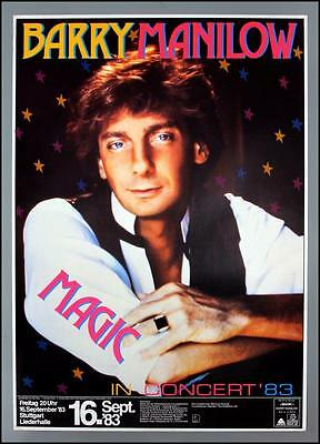 BARRY MANILOW - rare vintage original Germany 1983 concert poster