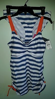 NWT Oh Baby Motherhood Maternity MEDIUM 2-Piece Tankini Swim Suit BLUE #54616