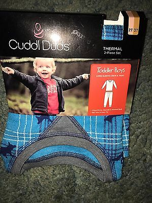 Cuddl Duds Toddler Boys Thermal Shirt & Pant 2T 3T New