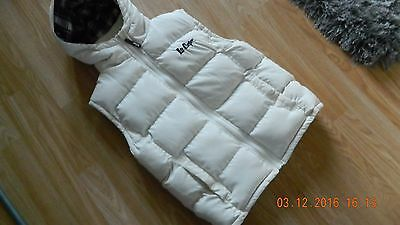 Lee Cooper ivory hooded gilet 2 zips at front & 2 pockets