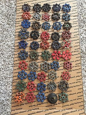 Vintage Valve Handles Faucet Knobs Steampunk Industrial Art Lot Of 50 .