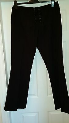 Ladies Black Laced Trousers Size 14