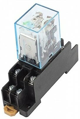 Sourcingmap® IEC255 DC 12V Coil 8Pin DPDT Electromagnetic Power Relay W Socket